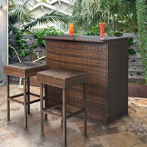 All-Weather Outdoor Wicker Bar